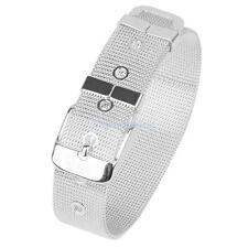 Silver Plated Mesh Belt Buckle Cuff Bracelet Bangle Wristband Adjustable Szie