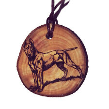 BULL TERRIER  DOG Personalised Necklace Charm Wood Natural Handmade Engraved