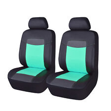 Green PU Leather Front Car Seat Covers Pair Black Auto Seat Protectord for Girls