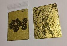 carte dragon ball - Gold card métalique limited spécial OR DB-004 prism