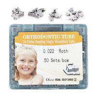 50 Set/Box Dental Orthodontic 1st Molar Non-convertible Roth 0.22 Buccal Tube CE