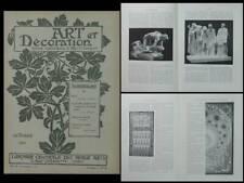 ART ET DECORATION - OCTOBRE 1900 - RODIN, MUCHA, SAUREL, SHERREBEK