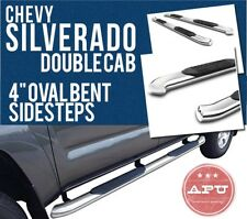 "07-18 Silverado 1500 EXT CAB 4"" Oval Side Steps Stainless Steel CLEARANCE SALE"