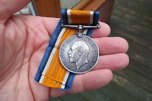 WW1 War medal. Gallipoli Casualty. `W` & Scimitar Hill.