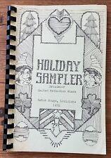 Vintage 1978 Holiday Sampler Cookbook Broadmoor Church Baton Rouge Louisiana