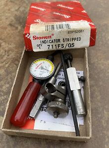 "Starrett no. 711 Last Word Dial Indicator Set .001"" machinist tool"