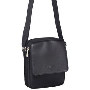 Pierre Cardin Soft  Leather Travel Bag Mens Unisex Messenger Cross Body