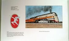 Railroad Train Art Milwaukee Road 4-6-4 Streamlined Hiawatha Signed Print