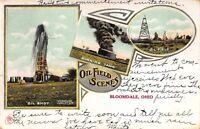 Postcard Oil Field Scenes in Bloomdale, Ohio~115483