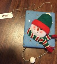 NWT Picture People Snowman 2 x 3 inch photo frame Christmas Ornament CUTE!