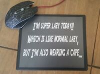 """""""Super lazy"""" Flexible Mousemat - Funny Meme Mouse Mat Pad PC Computer"""
