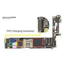 CHARGING DOCK FPC connector for apple IPHONE6+ high temp easy solder replacement