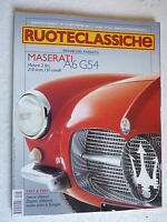 Ruoteclassiche Ruedas Clásico N° 153 Septiembre 2001 Maserati A6G54