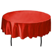 145cm Round Satin Tablecloth Wedding Table Cover Cloth Party Banquet Dinner Home