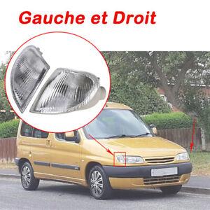 2pcs CLIGNOTANTS AVANT Gauche et Droit POUR Peugeot Partner 04/1996 à 11/2002