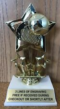 BASEBALL / SOFTBALL TROPHY - FREE ENGRAVING - EASY ASSEMBLY REQUIRED