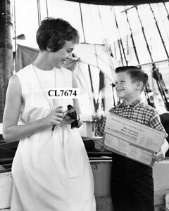 Julie Andrews and a Little Fan on the Ship During Filming Movie 'Hawaii' Photo