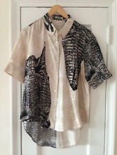 Acne Studios Patia Kroko Black / Beige Shirt, SS13, Never worn, Size 40