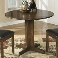 Ashley Furniture Stuman Round Wood Dining Table in Brown