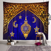 Wall Hanging Tapestry Eid Mubarak Ramadan Muslim Bedspread Home Room Decor AU