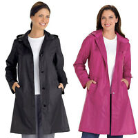 Womens Long Trench Windbreaker Coat Long Sleeve Raincoat Hooded