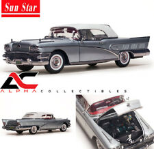 SUNSTAR PLATINUM  SS-4816 1:18 1958 BUICK LIMITED CLOSED CONVERTIBLE SILVER MIST