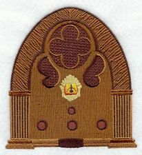 """Antique Radio Embroidered Patch Size 3.2""""x 3.5"""""""