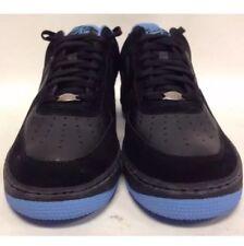 Nike Air Force 1 Black Suede University Blue Deadstock OG 2006 Sz 11 New In Box