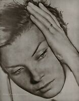 1930/75 Vintage MAN RAY Solarized Female Face Portrait Photo Engraving Art 12x16