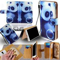 WALLET CARD SLOT LEATHER FLIP STAND CASE COVER For Various HomTom Smartphones