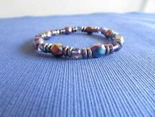 Bracelet Colorful Beaded Hematite Magnetic Therapy