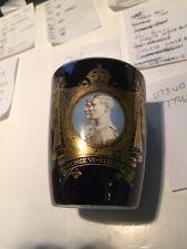 VERY RARE 1937 Cobalt Blue Royal Doulton Beaker for King George VI's Coronation