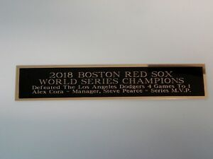 Boston Red Sox 2018 World Series Nameplate For A Baseball Signed Photo 1.5X8