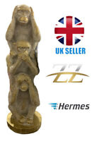 Three Wise Monkeys Tower Gold Effect Ornament