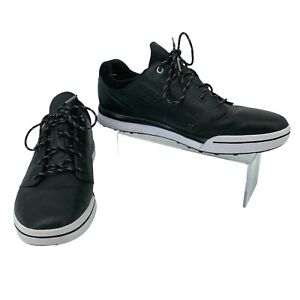 Under Armour Leather Golf Shoes Men's Size 9 Black Tempo Hybrid Lace Up Athletic