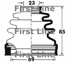 CV JOINT BOOT KIT FOR AUDI A3 LIMOUSINE FCB2879