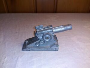 VINTAGE BARCLAY? MANOIL? TOY LEAD Artillery Piece Cannon Field Gun Howitzer
