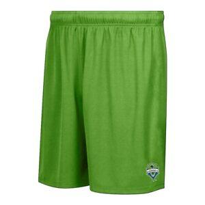Seattle Sounders FC MLS Licensed Men's Team Logo Rave Green Mass Soccer Shorts