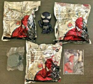 Lot OF 3 Stamp Stompin Venom Spider-Man 3 Burger King Toys New In Package  2007