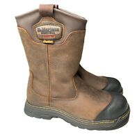 Dr. Martens Drywair Industrial Steel Toe Safety Boots Sz 8 M Brown ASTM F2413-11