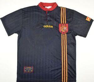 1996-1997 SPAIN ADIDAS AWAY FOOTBALL SHIRT (SIZE M)