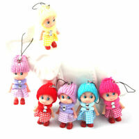 10Pcs Kids Toy Soft Interactive Baby Dolls Toy Mini Mobile Accessory Doll P C6F5
