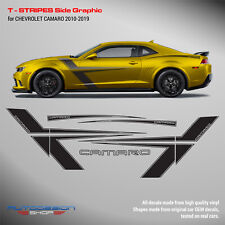 Chevrolet Camaro 2010 - 2015 T - Stripes Side Graphics decals set