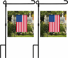 1Pc Garden Yard Flag Pole Holder Stand Metal Wrought Iron Stake Outdoor Decor