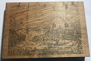 Stamps Happen 5x7 Rubber Stamp Cozy Cottage English Countryside