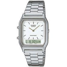 Casio Uhr AQ-230A-7DMQYES Analog Digital Herren Damen Silber Weiß NEU & OVP