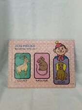 Vintage Collectable Zoo Jigsaw Puzzle ~ Made in Hong Kong ~ Educational Toys #7
