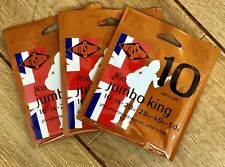 Rotosound Three Sets Of JK10 Jumbo King Acoustic Guitar Strings 10-50