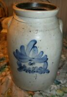 Antique L. & B. G. Chace Somerset MA Stoneware glazed crock jug Massachusetts