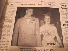 1953 Boonville IN High School Sr. Edition Newpaper Devoted to Grads News Photos